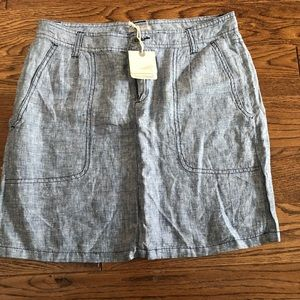 NWT Horny Toad Jean skirt size 4